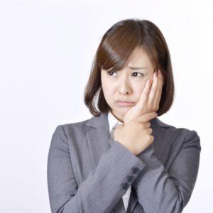 口内炎が痛い女性