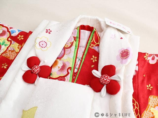 3歳 女の子 正絹 着物 被布コート