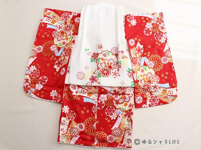 3歳 女の子 正絹 着物 被布コート 背面