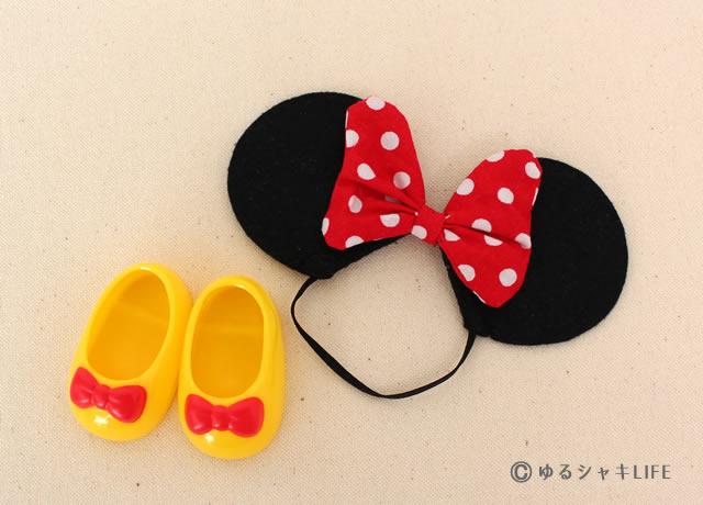 ミニーちゃんの耳と靴
