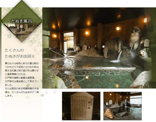あつぎ飯山温泉 元湯旅館 たぬき風呂