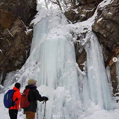 奥鬼怒温泉 八丁の湯 氷瀑